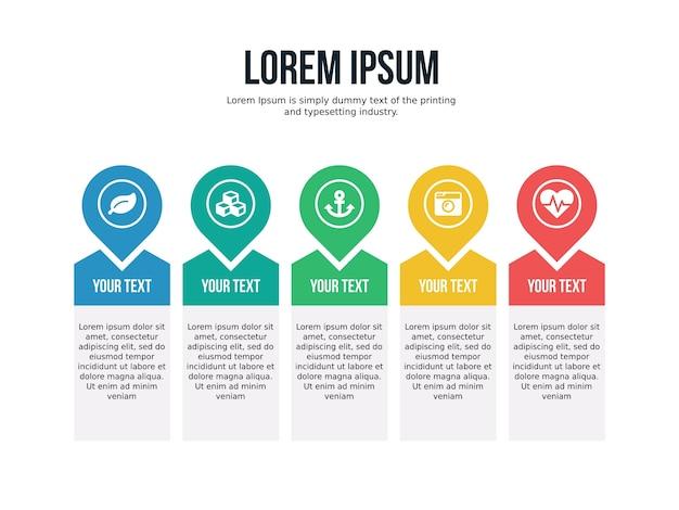 Slide de apresentação com infografia de negócios