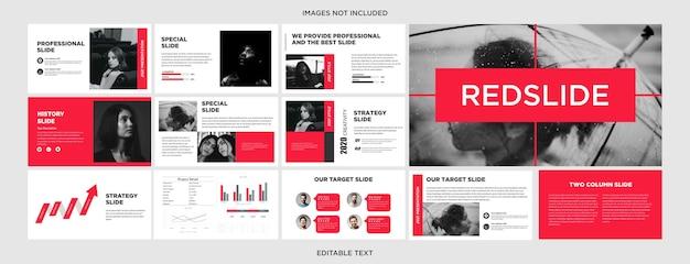 Slide de design de apresentação multifuncional redslide