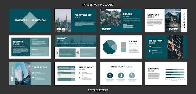 Slide de design de apresentação multiuso