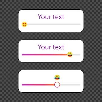 Slider emoji em mídias sociais