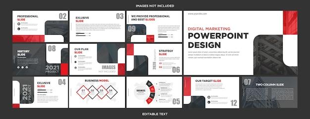 Slides de apresentação criativa multiuso