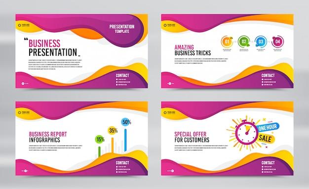 Slides de apresentação de relatórios