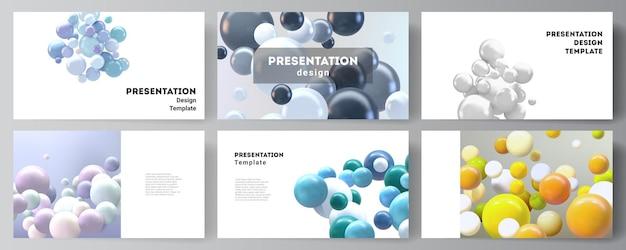 Slides de apresentação desenham modelos de negócios, modelos multiuso.