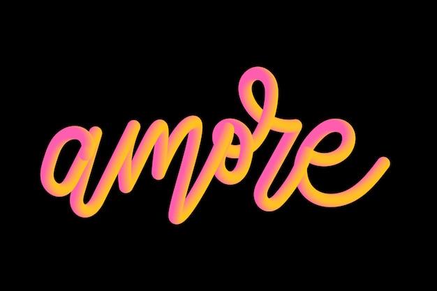 Slogan amore frase gráfico vetorial imprimir moda letras caligrafia