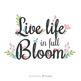 Slogan com flores