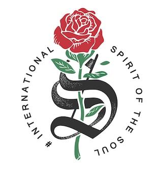 Slogan com ilustração gráfica rosa