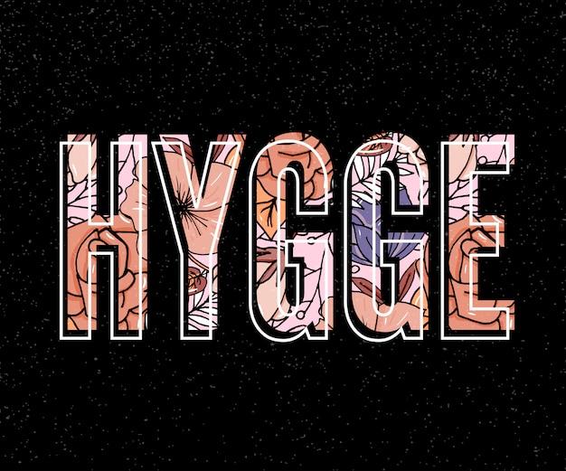 Slogan de hygge no escuro