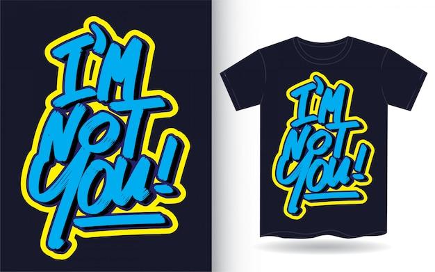 Slogan de letras de mão para impressão de camiseta