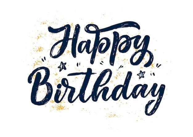 Slogan de letras para feliz aniversário