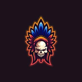 Slogan do logotipo do crânio aqui