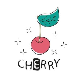 Slogan engraçado da moda com remendo de cereja para t-shirt e vestuário gráfico vetorial imprimir. modelo de vestuário, cartão, pôster. elemento de design