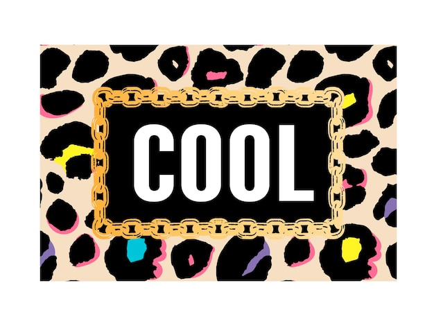 Slogan legal em textura de leopardo