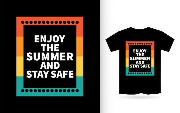 Slogan motivacional sobre design de letras de verão para camiseta