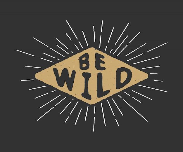Slogan motivacional vintage