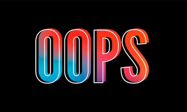 Slogan oops frase gráfico vetorial leopardo imprimir letras da moda