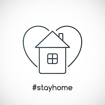 Slogan para ficar em casa com casa e coração