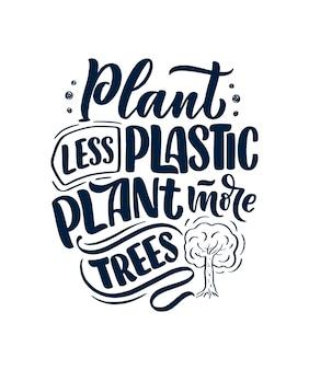 Slogan sobre reciclagem de resíduos