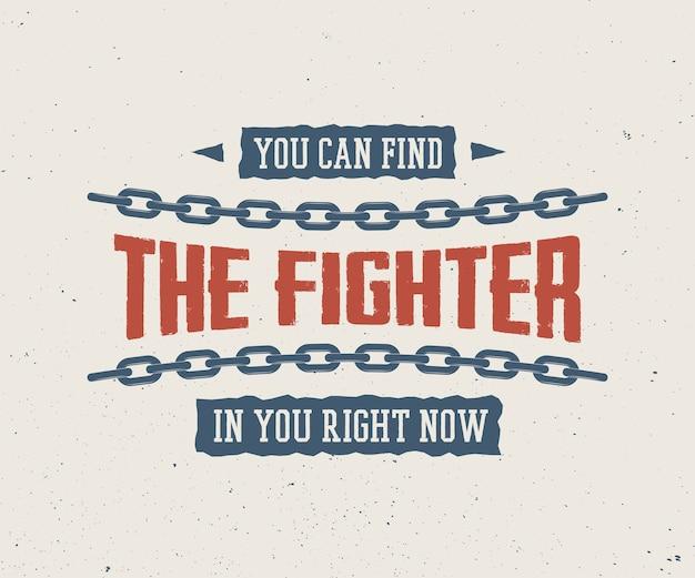 Slogan vintage com motivação