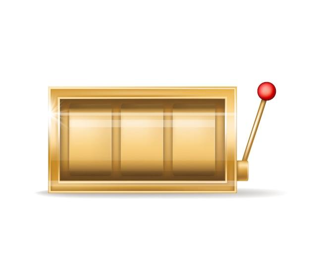 Slot machine dourado, equipamento do casino de jogo