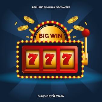 Slot machine grande vitória realista