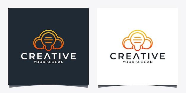 Smart chat idea logo design smart technology