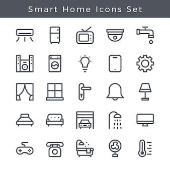 Smart home icons set app