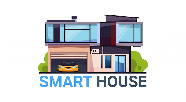 Smart house system automação e controle tecnologia moderna casa ícone isolado