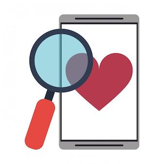 Smartphone com aplicativo de namoro