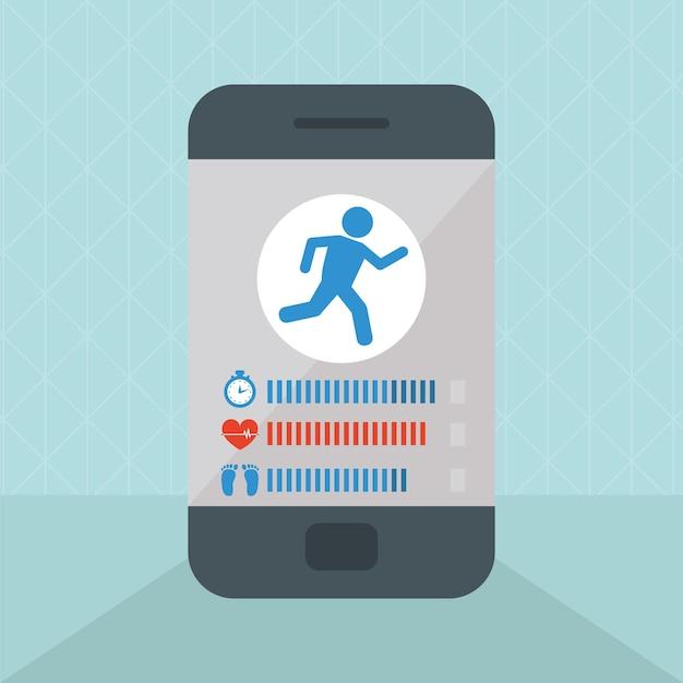 Smartphone com app de saúde