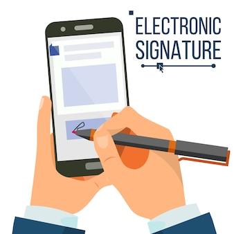 Smartphone com assinatura eletrônica