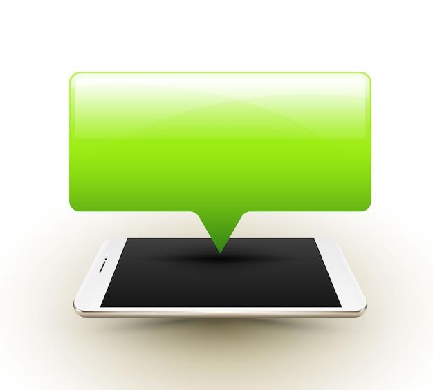Smartphone com banner pop-up
