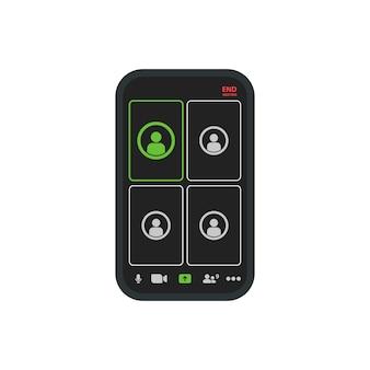 Smartphone com conceito de chamada de vídeo
