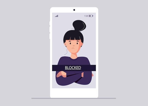 Smartphone com conta de usuário bloqueada