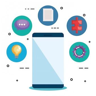 Smartphone com elementos de negócios