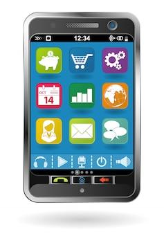 Smartphone com ícones