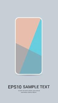 Smartphone com maquete realista de tela colorida e conceito de dispositivos