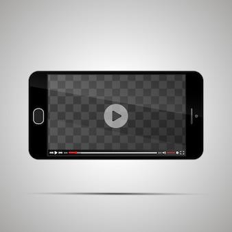 Smartphone com reprodutor de vídeo