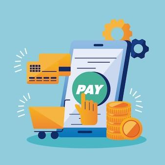 Smartphone com soluções de pagamento
