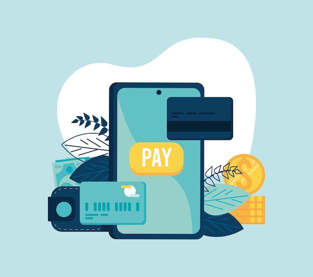 Smartphone com transação móvel