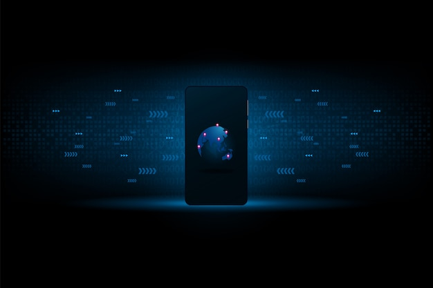 Smartphone conecta o mundo juntos para o futuro