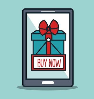 Smartphone cyber segunda-feira comprar agora presente