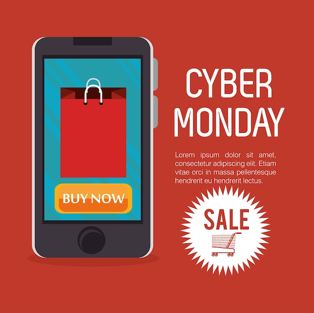 Smartphone cyber segunda-feira venda comprar agora