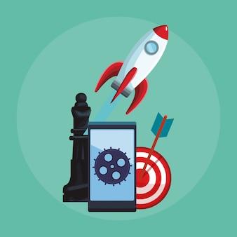 Smartphone de aplicativos móveis para empresas
