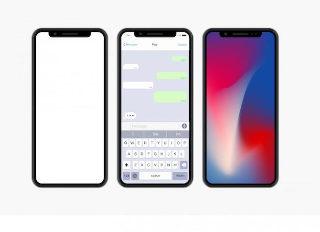 Smartphone de conceito moderno em branco
