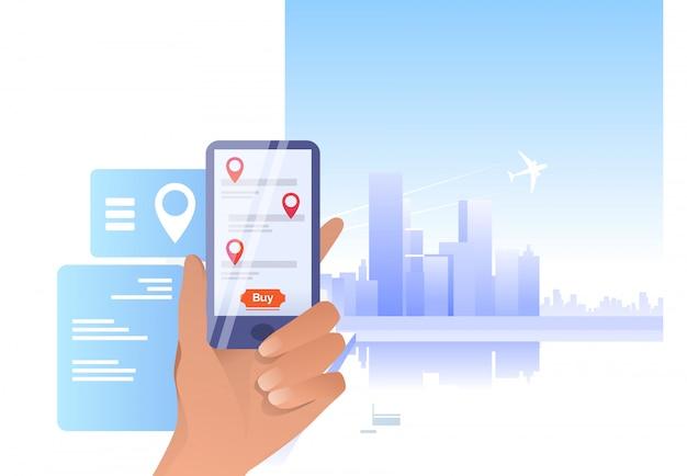 Smartphone de exploração de mão