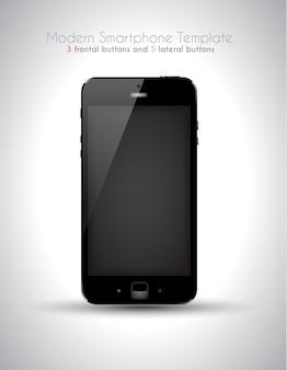 Smartphone de toque moderno ultra realista