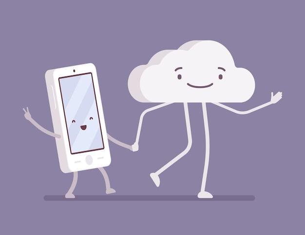 Smartphone e nuvem ambulante