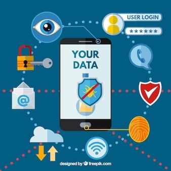 Smartphone e variedade de aplicativos