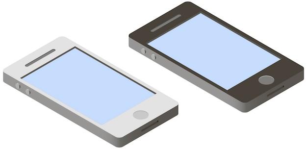 Smartphone em isométrico