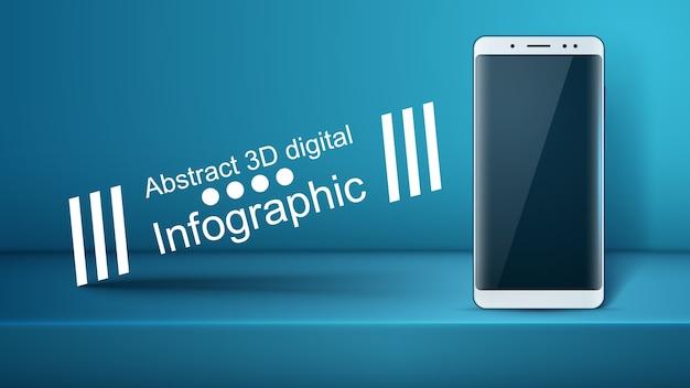 Smartphone, gadget digital - infográfico de negócios.